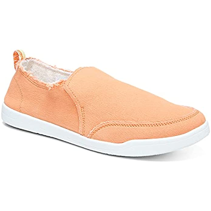 Vionic Beach Malibu Casual Women's Slip On Sneakers-Sustainable Shoes That Include Three-Zone Comfort with Orthotic Insole Arch Support, Machine Wash Safe- Sizes 5-11