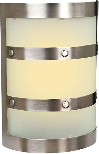 """Craftmade ICH1405-PT Illuminated Chime System Half Cylinder Lighted LED Door Chime, Pewter (9.5""""H x 6.75""""W)"""