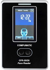 COMPUMATIC CFR-20/20 TOUCHLESS BIOMETRIC 3D FACE RECOGNITION TIME CLOCK PACKAGE INCLUDES COMPUTIME EMPLOYEE PAYROLL SOFTWARE (Best Face Recognition Time Clock)
