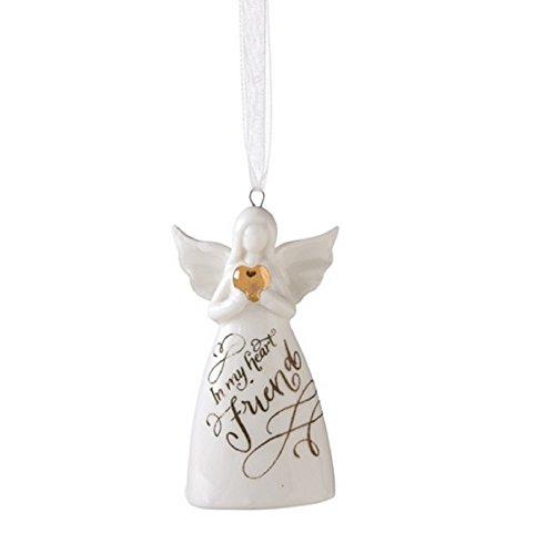 In my Heart Friend Angel Porcelain Bell Ornament