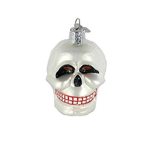 Old World Christmas Skull Halloween Ornament 26021 Merck Family's]()