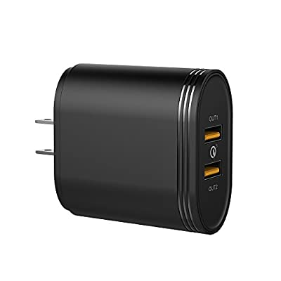 Belpink 2-Port 36W Quick Charge 3.0 USB Wall Charger, Fast Wall Charger for Samsung Galaxy S8/S7/S6/Edge, LG G5, HTC, Nexus 6 and More