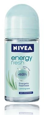 Nivea Deo Roll on 50ml. (Pack of 3) (Energy Fresh)