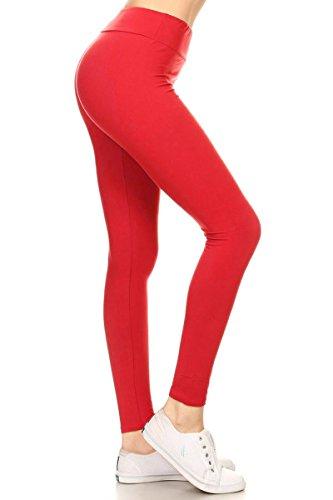 a63d0897f1 Galleon - Leggings Depot Waist REG/PLUS Women's Buttery Soft Solid Leggings  16+Colors (Plus Size (Size 12-24), Red)