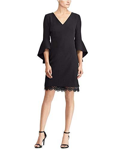 Ralph Lauren Dress by Lauren Shift Crepe Women's Black qrqY5w