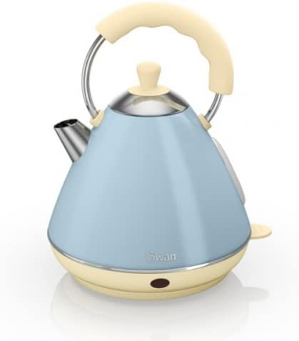 Swan Retro Duck Egg Blue Pyramid Kettle - 2 Litre