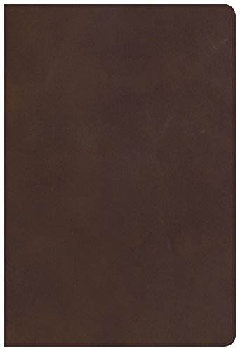 (CSB Single-Column Personal Size Bible, Brown Genuine Leather)