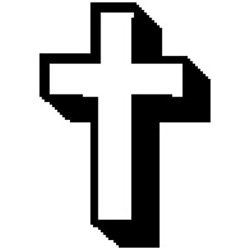 Open Christian Cross Art Rubber -
