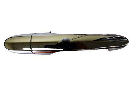 PT Auto Warehouse GM-3312M-RRK - Outside Exterior Outer Door Handle, Chrome - Passenger Side Rear