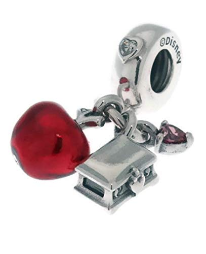 (Pandora Disney Snow White's Apple & Heart Dangle Charm 797486CZRMX)