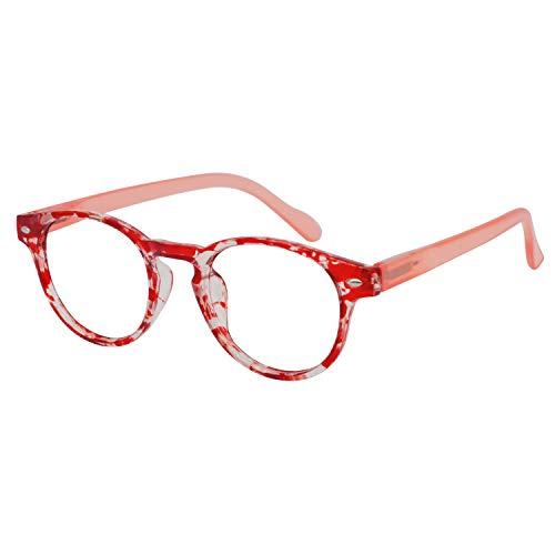OCCI CHIARI Anti-blue light Reading Glasses Computer Prescription Reader with Spring Hinge Comfortable ()
