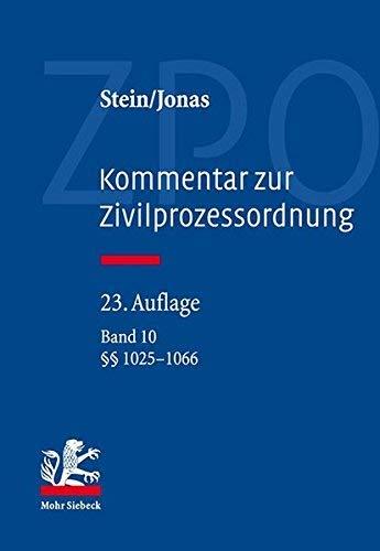 Kommentar Zur Zivilprozessordnung: Band 10: 1025-1066 (German Edition) [並行輸入品]   B07QBNH3J9