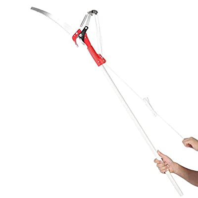 VIFERR Professional Pruning Shear Garden Pruner Fruit Picker Tool with 4 Pulley Wheel Design - for Tree Bushes Bonsai Clipper(Pole is not Included) : Garden & Outdoor