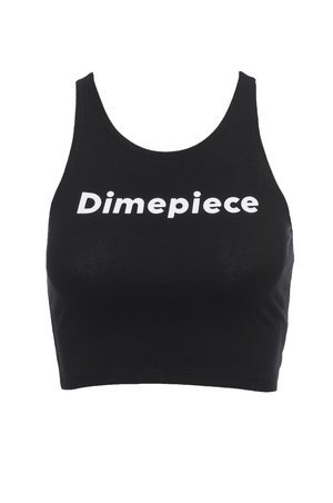 Dimepiecela Black Logo Crop Top Womens Christmas Gift, Dimepiece Cropped Tank Top … (Small/Medium) - Dimepiece Clothing