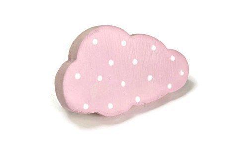 Bouton De Meuble Poignee De Meuble Enfant Nuage Rose En Bois Peint Amazon Fr Handmade