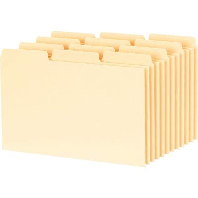 Oxford 1/3-cut Blank Tab Index Card Guide - Blank - 4quot; x 6quot; - 100 / Box - Buff Divider