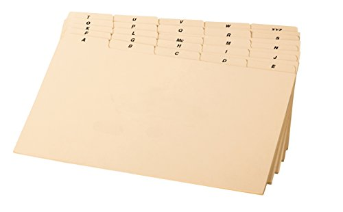 Preprinted Index Card Guides (Oxford Strong Index Card Guide (B8525))