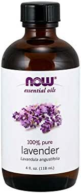 NOW Essential Oils, Lavender Oil, Soothing Aromatherapy Scent, Steam Distilled, 100% Pure, Vegan, 4 Fl Oz