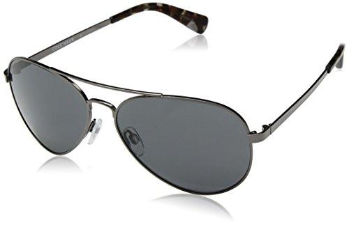 Cole Haan Men's Ch6007 Metal Aviator Sunglasses, Dark Gunmetal, 58 - Haan Aviator Sunglasses Cole