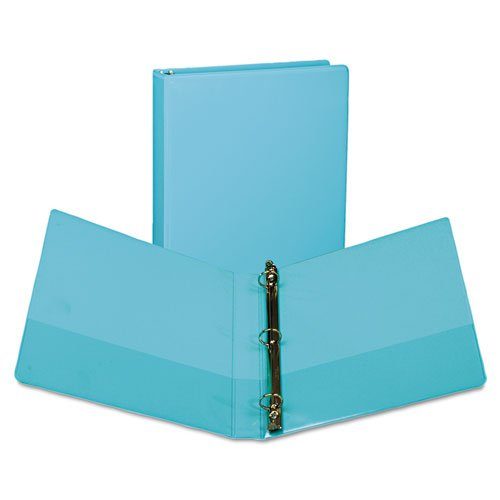 (Fashion View Binder, Round Ring, 11 x 8 1/2, 1\ Capacity, Turquoise, 2/Pack
