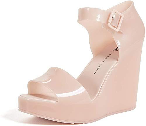 Melissa Women's Mar Wedge Sandals, Light Pink, 7 M US