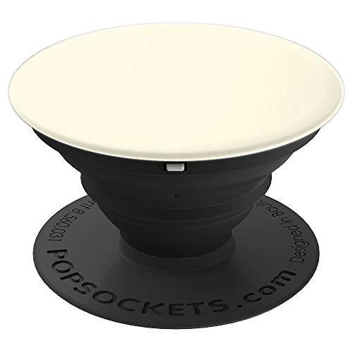 Egg Shell plain solid Hue color, pearl, lace, porcelain - PopSockets Grip and Stand for Phones and Tablets