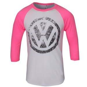Genuine VW Neon Pink Raglan Shirt - Size Extra Large