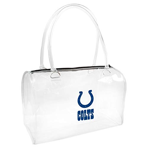 NFL Indianapolis Colts Clear Bowler Handbag