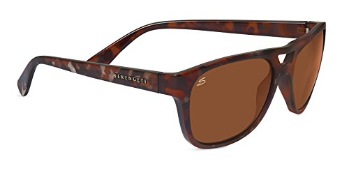 (Serengeti 7960 Tommaso Sunglasses, Shiny Dark Tortoise Frame, Polarized 555nm Lens)