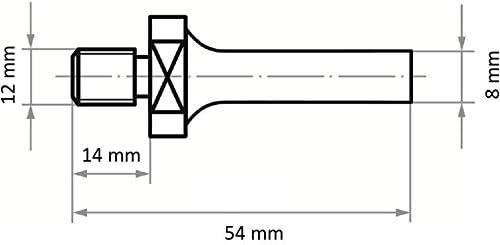 LUKAS Werkzeugaufnahme ASB für Werkzeuge mit Innengew. M12 Schaft 6 mm