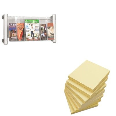 KITSAF4133SLUNV35668 - Value Kit - Safco Luxe Magazine Rack (SAF4133SL) and Universal Standard Self-Stick Notes (UNV35668) by Safco
