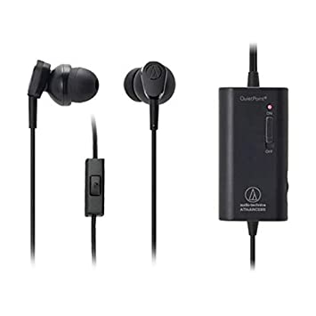 Audio-Technica QuietPoint Active Noise-Cancelling ATH-ANC33iS in-Ear Earphones In-Ear Headphones at amazon
