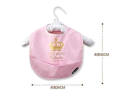 Delantal para niños pequeños Toalla babero bebé babero impermeable Biber impermeable para niños y niñas (
