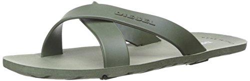 Ivy Slide (Diesel Men's Plaja Wash Slide Sandal, IVY Green, 40 EU/7-7.5 M US)