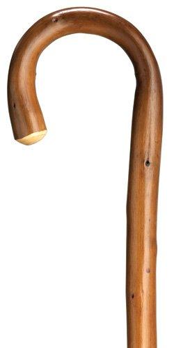Walking Cane Mens Crook Handle X Heavy Genuine 1 Natural Chestnut Wood 36 Long Wrubber Tip