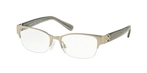 Michael Kors TABITHA VI MK7006 Eyeglass Frames 1074-52 - Satin Silver/grey - Best Eyeglasses Rimless