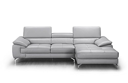 (J and M Furniture 18273-RHFC Liam Premium Leather Sectional Chaise)