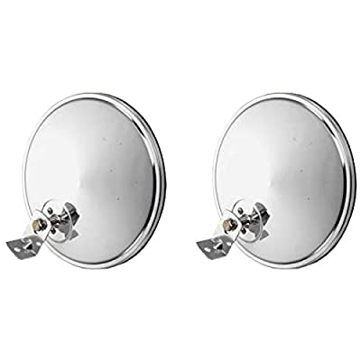 """Pair of 8"""" Offset Chrome Convex Truck Mirror for Peterbilt and Freightliner: Automotive"""