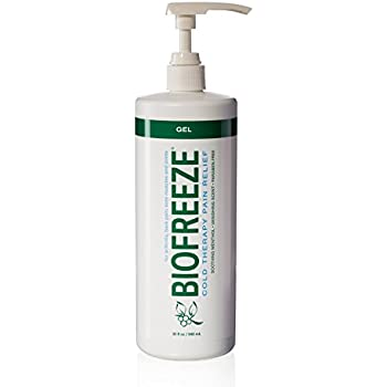 Biofreeze Pain Relief Gel for Arthritis, 32 oz. Bottle With Pump, Fast Acting Cooling Pain Reliever for Muscle, Joint, & Back Pain, Cold Topical Analgesic with Original Green Formula, 4% Menthol