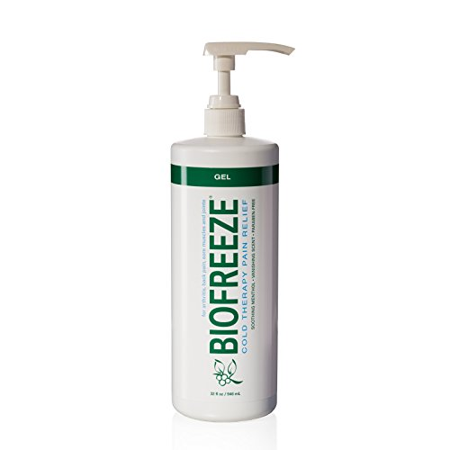 Biofreeze Pain Relief Gel for Arthritis, 32 oz. Bottle With Pump, Fast Acting Cooling Pain Reliever for Muscle, Joint, Back Pain, Cold Topical Analgesic with Original Green Formula, 4% ()