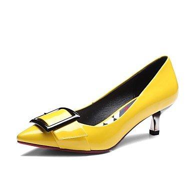 Gris Mujer Amarillo Otoño Casual Tacones Pu Gray ggx Plano Invierno Confort Lvyuan 5aqw8SWC