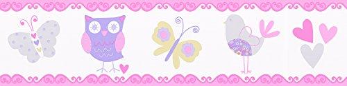 A.S. Création selbstklebende Bordüre Kids Party, bunt, violett, 895424