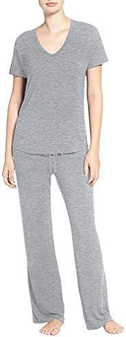 TAIPOVE Women's Soft Pajamas Set Pants and Short Sleeve V-Neck Sleepwear Pjs Sets 2-Piece Loungewear Night