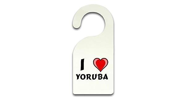 R4BIZ - Colgador de puerta (con placa para puerta con texto Ich liebe  Yoruba (vorname zuname apodo)  Amazon.es  Bricolaje y herramientas ee797617086d