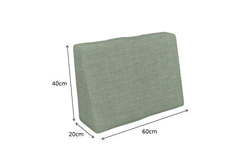 POKAR Set de 6 Coussins pour Palettes Euro: 2X Assise 120x80cm + 2X Dossier 120x40cm + 1x Dossier 60x40cm + 1x Coussin…