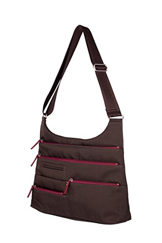 Highway Handbag S09-22 (Sepia & Red)