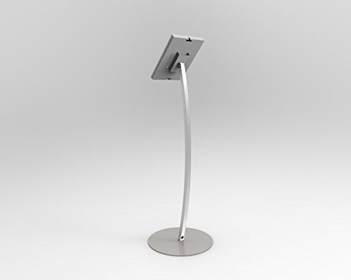 Fixture Displays iPad Podium Stand, Locking Enclosure, Ledge for Speaker's Notes, Power Cable - Silver 19614 by FixtureDisplays (Image #2)'