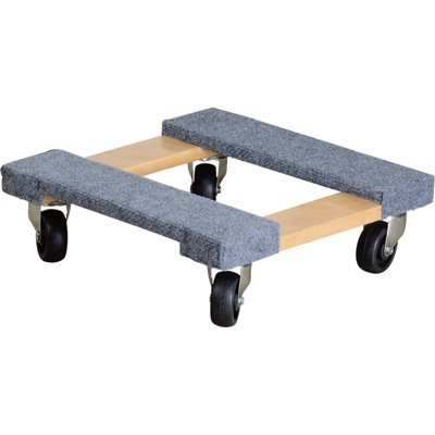 Ironton Carpeted Mover's Dolly - 1000-Lb. Capacity, 16in.L x 16in.W by Ironton