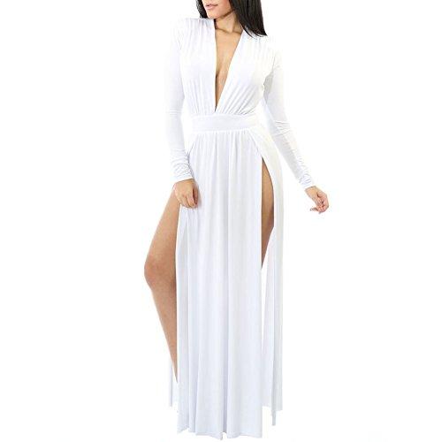 high side splits maxi long dress - 9