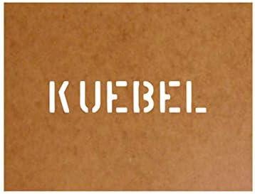 Vak sjabloon Bundeswehr oliefkarton laksjabloon 25x12cm 15130